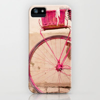 the lady in pink iPhone Case by Hello Twiggs | Society6