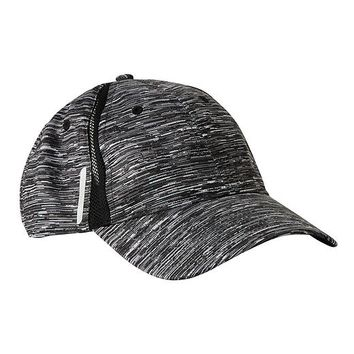 Athleta Mixed Mesh Cap Size One Size - Black space dye