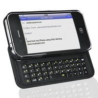 iPhone Case + 42-Key MiniKey Bluetooth Slide-Out Keyboard for iPhone 4/4S