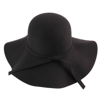 Stylish Women's Brim Wool Fedora Hat
