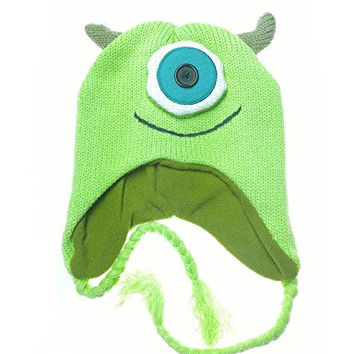 Monsters Inc Mike Sipowski Knit Laplander Beanie Hat