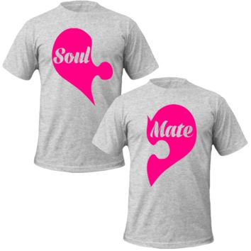 soul mate puzzle Couple Tshirts