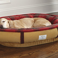 Fleece Dog Bed / FleeceLock™ Wraparound Dog Bed -- Orvis
