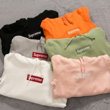 HCXX New Supreme 2017 F/W Box Logo Hoodie Size S,M,L, XL Sweater Hip-hop Sweatshirts