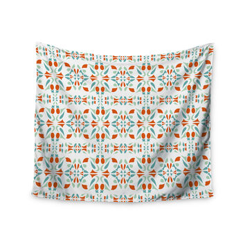 "Miranda Mol ""Italian Kitchen Orange Green"" Wall Tapestry"