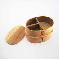 DOUBLE LEVEL NESTED CEDAR BENTO
