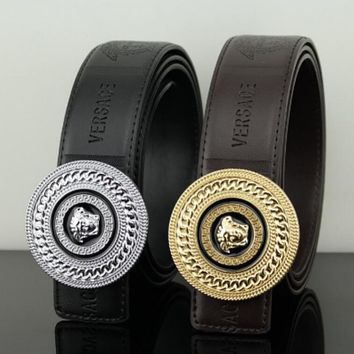 Versace women men medusa belt two color
