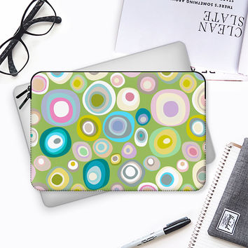 spring spot green Macbook Pro 13 sleeve by Sharon Turner | Casetify