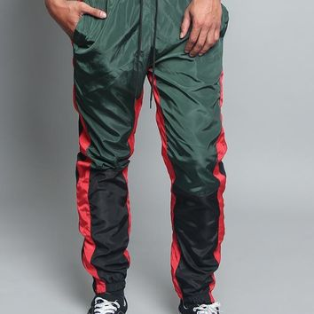 Tri Color Windbreaker Track Pants TR543 - V7D