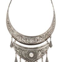Natalie B Jewelry Protector Necklace in Metallic Silver