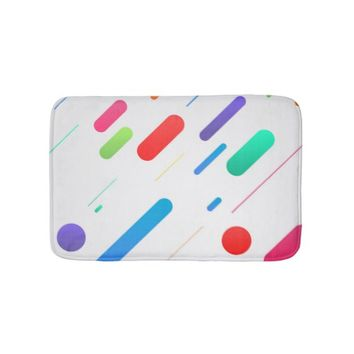 Abstract Colors Bath Mat