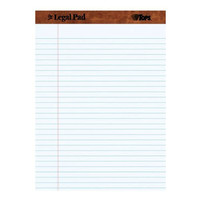 Tops Legal Pad, 8.5 x 11.75 inch, Perforated White, 12 Pads per Pack (7533)