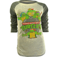 FREEZE TMNT BURNOUT BASEBALL T-SHIRT