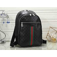 Gucci sells printed men's and women's fashionable backpacks Black