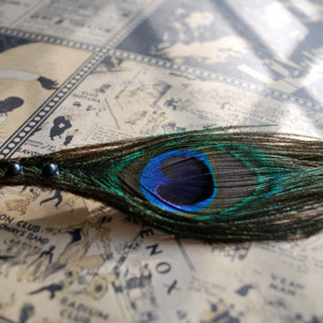 Peacock Feather Hair Clip, #peacock, #feather