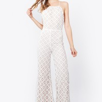 Sugar Lips Alabama Crochet Jumpsuit