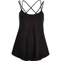 River Island Womens Black strappy swing cami top