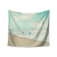 "Sylvia Cook ""Away We Go"" Beach Seagull Wall Tapestry"