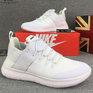 Nike Free Rn Cmtr Casual Women Men Running Sport Casual Shoes Sneakers White G-CSXY