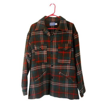 Green Flannel Shirt Pendleton Wool Shirt Christmas Shirt Men XXL Shirt Men Pendleton Shirt Red Flannel Shirt Plaid Flannel Shirt 60s Clothes