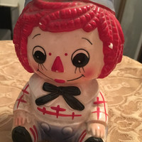 Japanese Ceramic Andy Planter, Rubens Originals, Red Hair, Cartoon Character, Raggedy Ann and Andy, Made in 1978