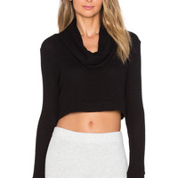 Blue Life Fit Cozy Crop in Black