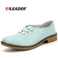 Genuine Leather Oxford Shoes Women Flats  Fashion Women Shoes Casual Moccasins Loafers Ladies Shoes sapatilhas zapatos mujer
