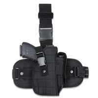 Global Military Gear Tactical Nylon Drop-Leg Holster (Black)