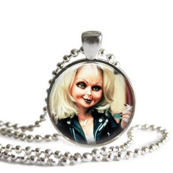 Bride of Chucky Silver Plated Picture Pendant Necklace