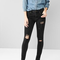 1969 Destructed Resolution True Skinny High Rise Jeans