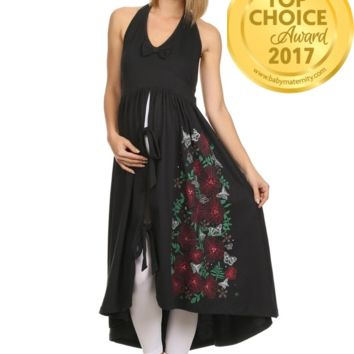 Maternity Delivery Gown - Black