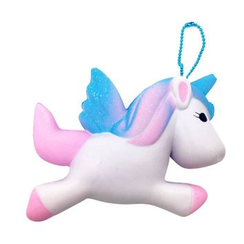 Exquisite Cute Squishy Unicorn Toy Slow Rising for Children Adults Relieves Stress Anxiety Cabinet Decoration Sample Model