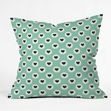 Elisabeth Fredriksson Lovely Dots Mint Throw Pillow