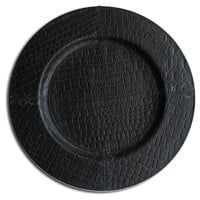 One Kings Lane - Serve Up a Scare - Croc Round Charger, Black