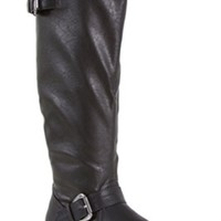 Charles Albert Double Buckle Tall Riding Boots in Black NEW-11144-BLK
