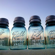 Set of 4 Vintage Blue Ball Perfect Mason Jar by CreativeCorksNMore