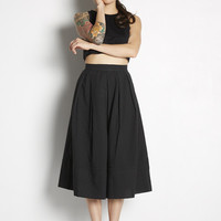 Over-the-Knee Pleated Skirt