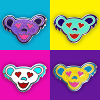 Grateful Dead Love Bear Set of Four Pins