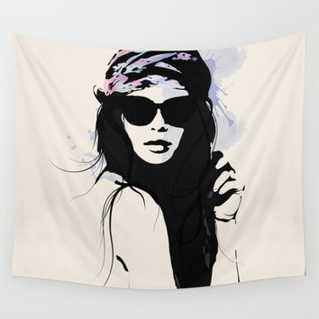 Infatuation - Digital Fashion Illustration Wall Tapestry by Allison Reich