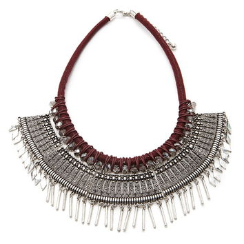 Etched Statement Necklace | Forever 21 - 1000202701