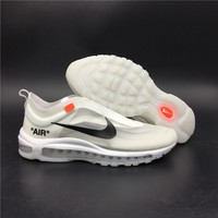 Off White for Nike Air Max 97 Beaverton Basketball Shoes 36-45