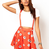River Island Daisy Print Skater With Braces