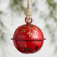 Metal Alpine Jingle Bell Ornaments Set of 2