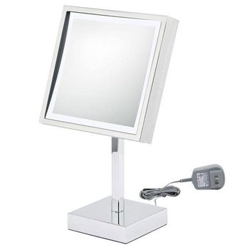 DCCKAB3 First Impressions LED Lighted Square Chrome Vanity Mirror