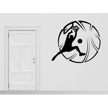 Large Wall Decal Sport Basketball Player Ball Vinyl Sticker Decor (n1052)