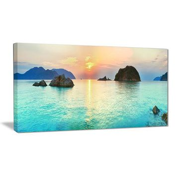 Alluring Sunrise Panorama Canvas Wall Art Print