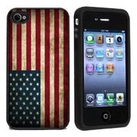 Grunge USA American Flag Case / Cover For Apple iPhone 4 or 4s by Atomic Market