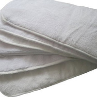 """6 Pack 100% Microfiber Inserts for Cloth Diapers Reusable Washable Large 14"""" X 5"""""""