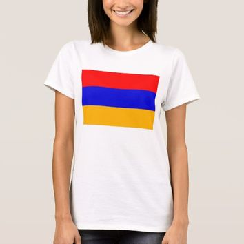 Women T Shirt with Flag of Armenia
