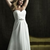Chiffon A Line Sweetheart Wedding Dress Style W270 - Wedding Dresses - Wedding Apparel  - ClothingTalks Online Shopping